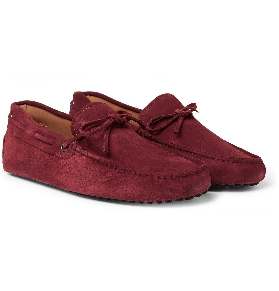 Tod's - Gommino Suede Driving Shoes - Men - Red
