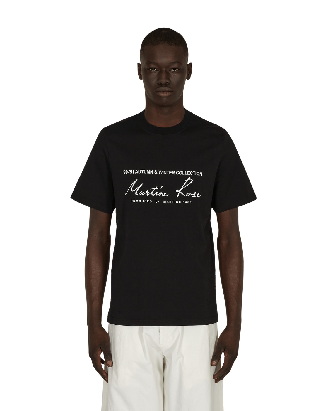 Martine Rose Classic T Shirt Black