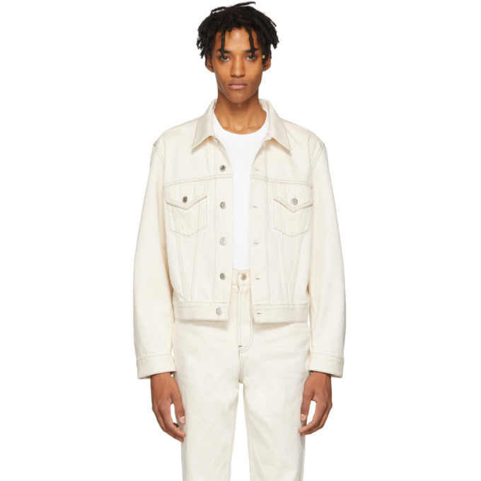 Photo: Helmut Lang Beige Denim Masc Trucker Jacket