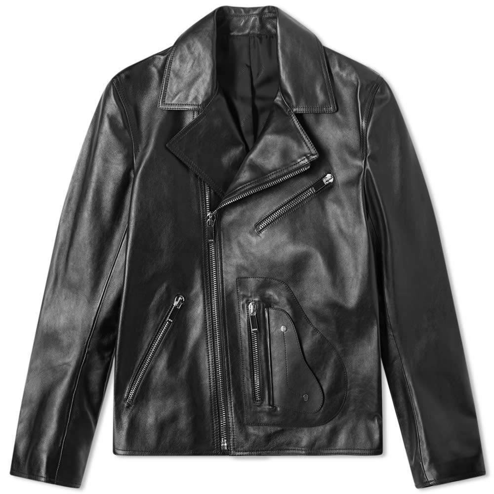 Photo: Dior Saddle Pocket Leather Biker Jacket