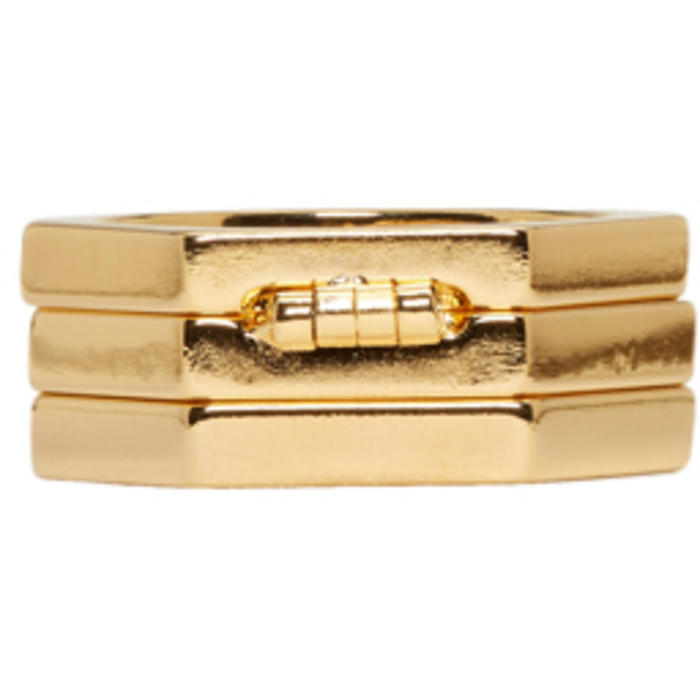 Photo: Valentino Gold Valentino Garavani Stacked Ring