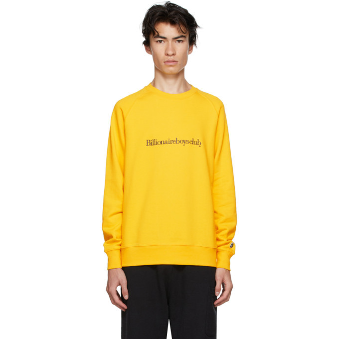 Photo: Billionaire Boys Club Yellow Embroidered Logo Sweatshirt