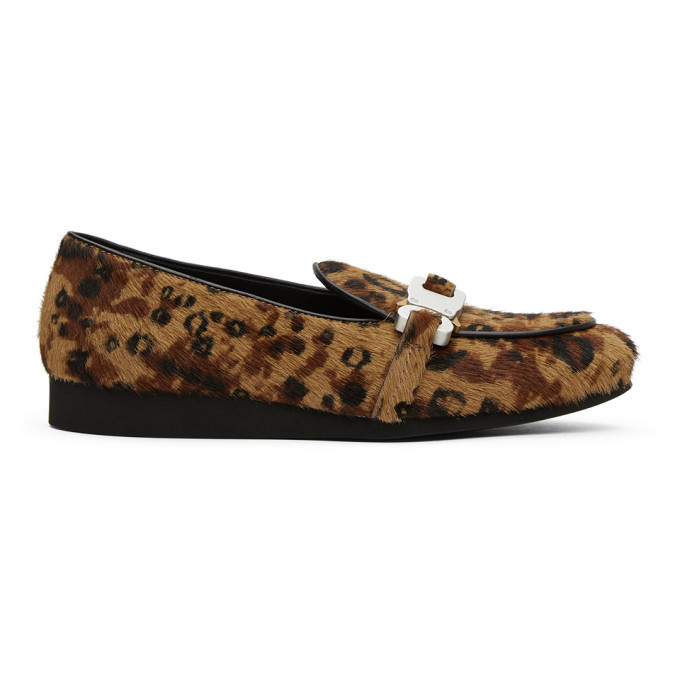 Photo: 1017 ALYX 9SM Brown and Black Leopard St. Marks Loafers