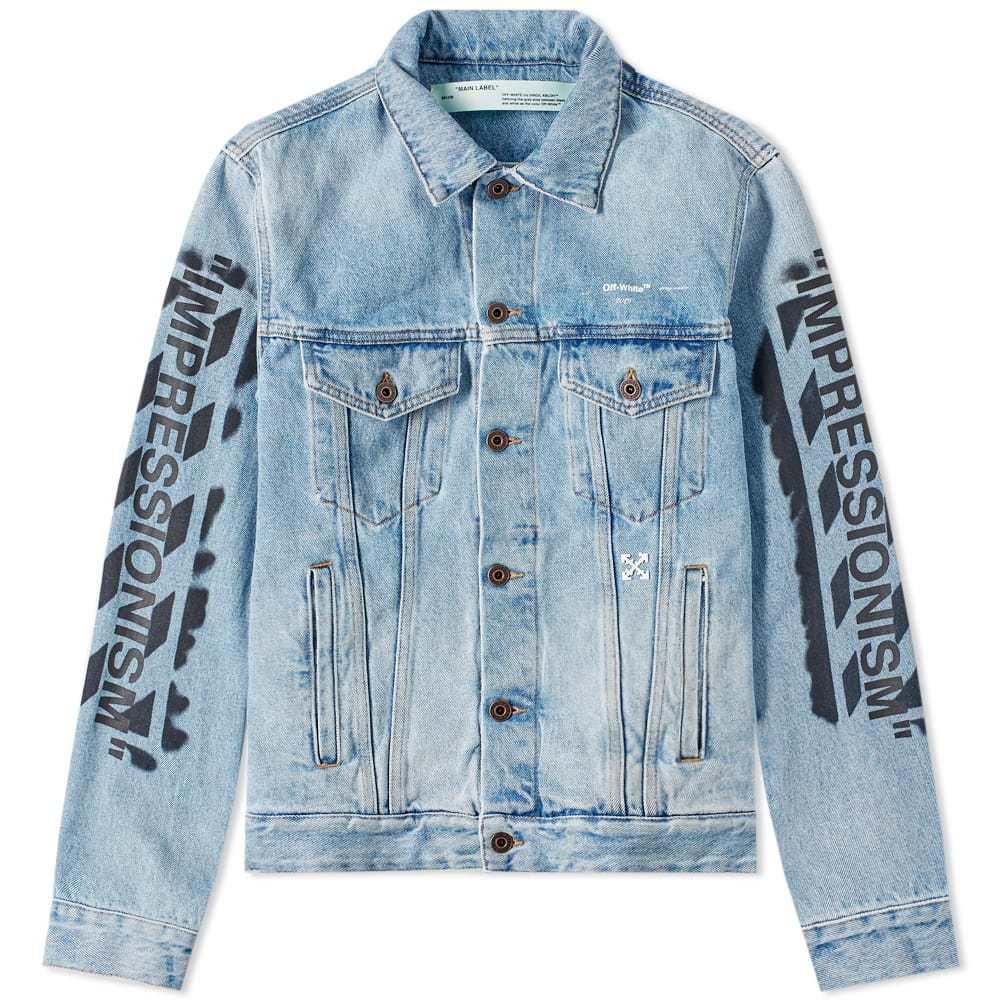Photo: Off-White Slim Vintage Diagonals Denim Jacket