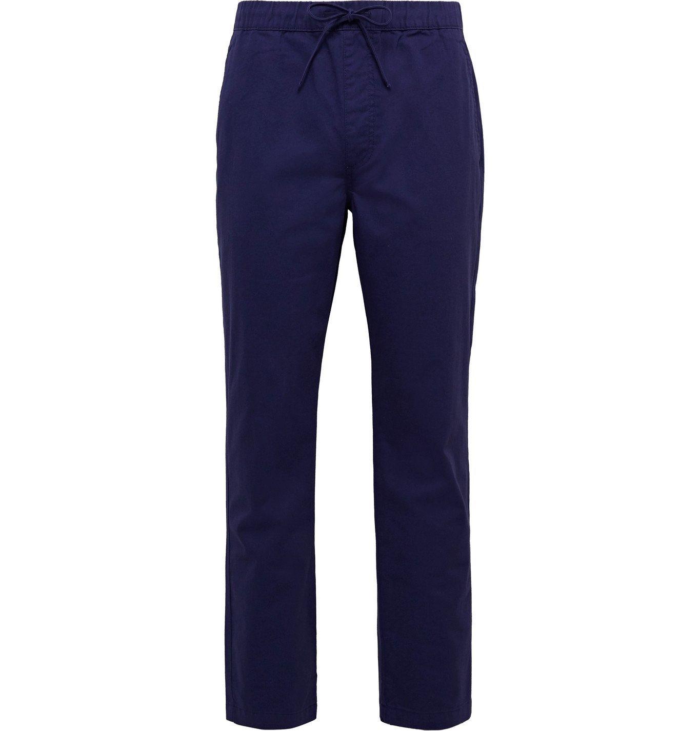 Photo: Onia - Jimmy Slim-Fit Cotton-Twill Drawstring Chinos - Blue