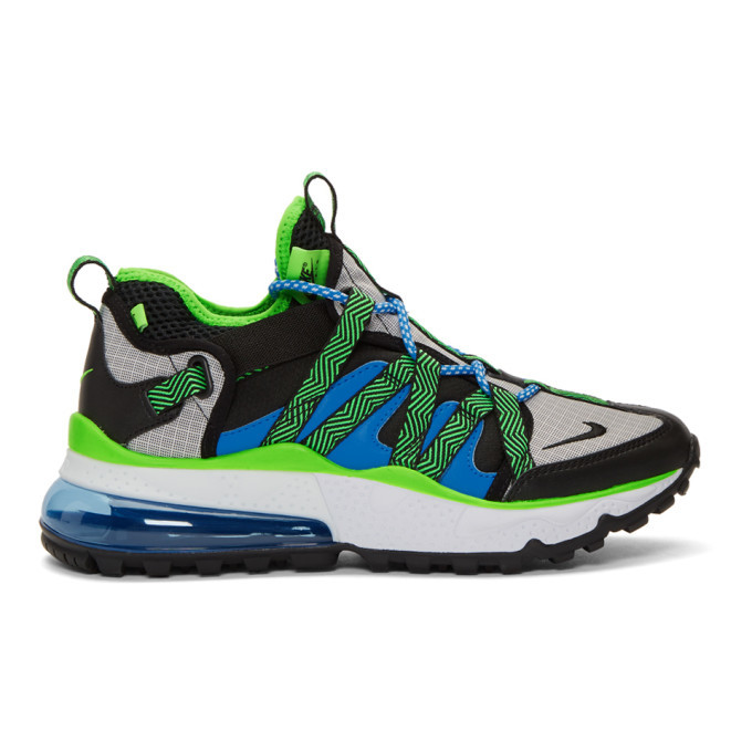 Photo: Nike Black and Blue Air Max 270 Bowfin Sneakers