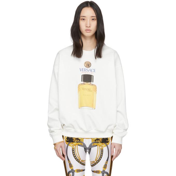 Photo: Versace White Eau de Toilette Sweatshirt