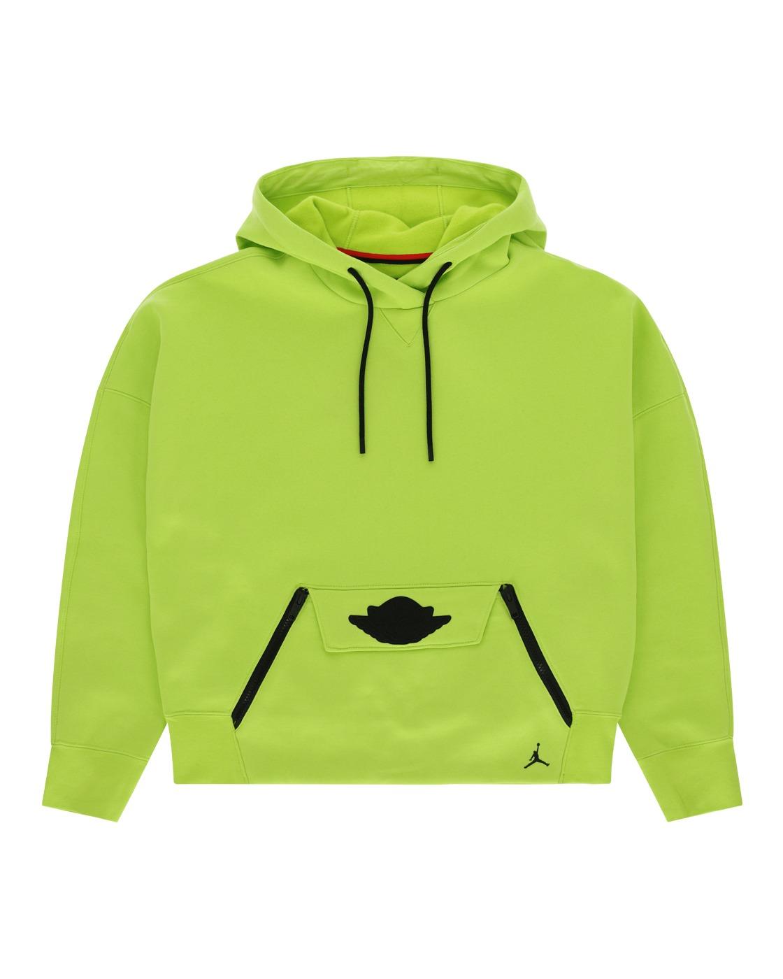 Nike Jordan Fleece Hooded Sweatshirt Cyber/Black
