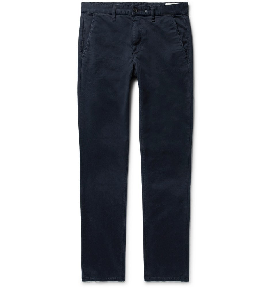 Photo: rag & bone - Fit 2 Slim-Fit Garment-Dyed Cotton-Twill Chinos - Midnight blue