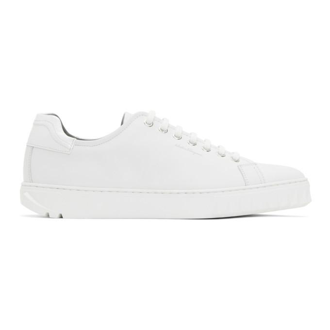 Photo: Salvatore Ferragamo White Cube Sneakers