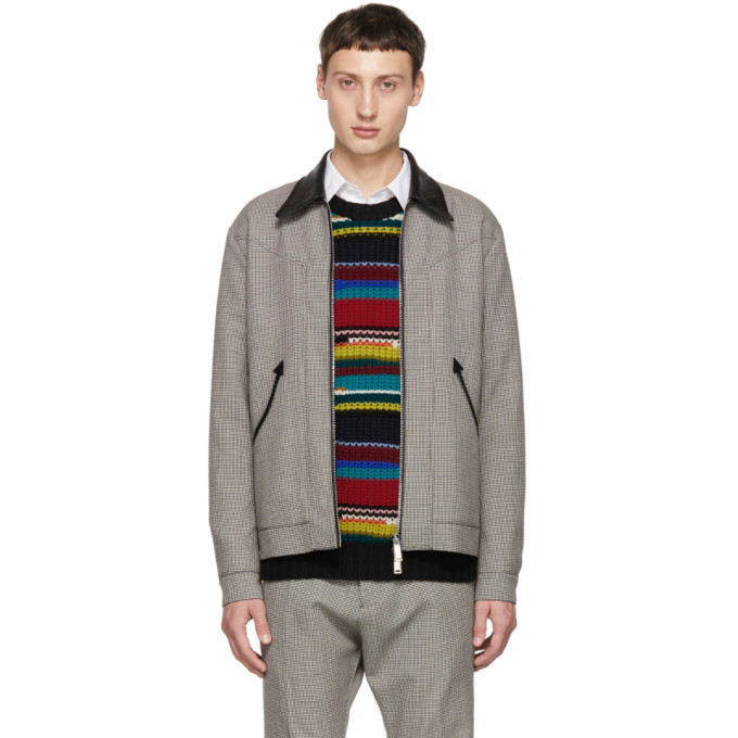 Photo: Dsquared2 Multicolor Houndstooth Zip Jacket