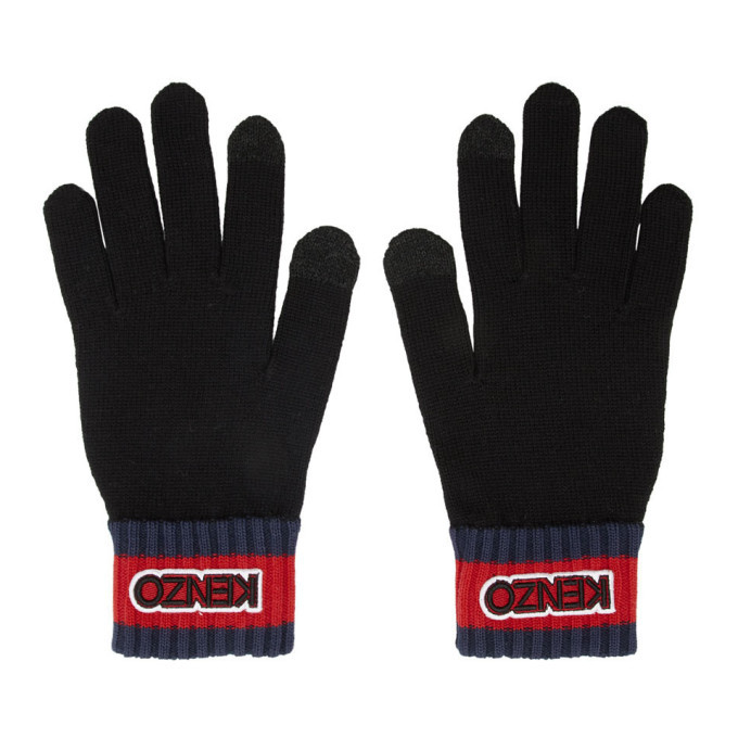 Photo: Kenzo Black Logo Tag Gloves