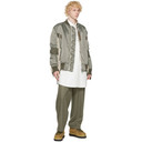 Sacai Khaki Nylon and Wool Bomber Jacket