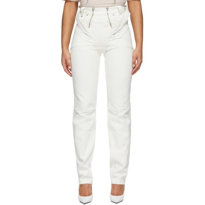 Photo: GmbH White Harness Straight-Leg Jeans
