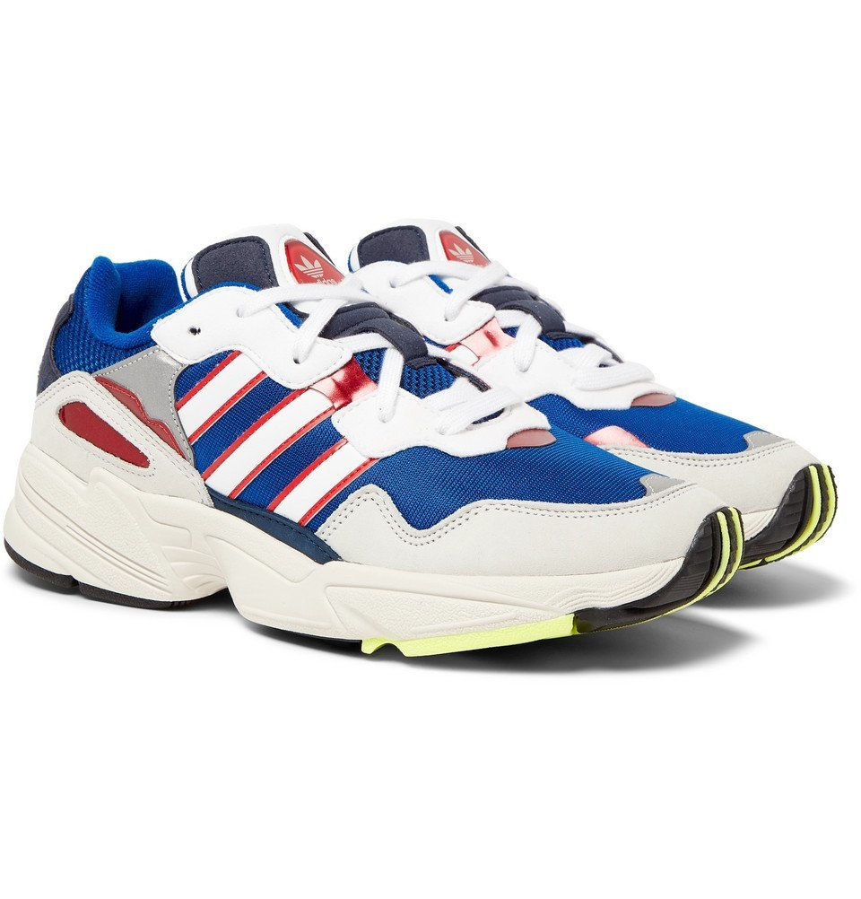 adidas Originals - Yung 96 Suede, Leather and Mesh Sneakers - Blue