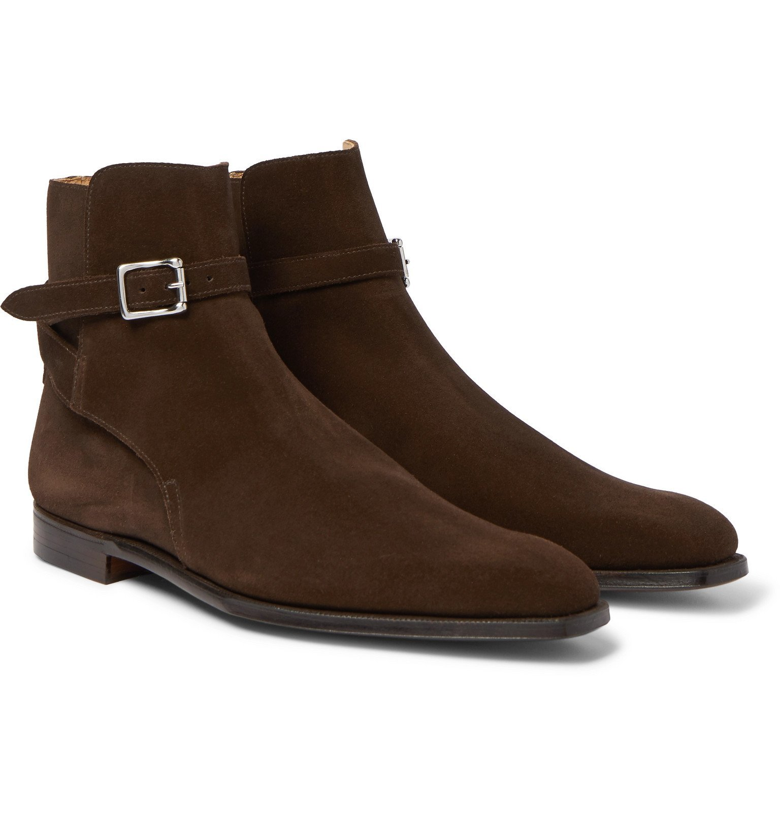 Photo: George Cleverley - Morris Suede Chelsea Boots - Brown
