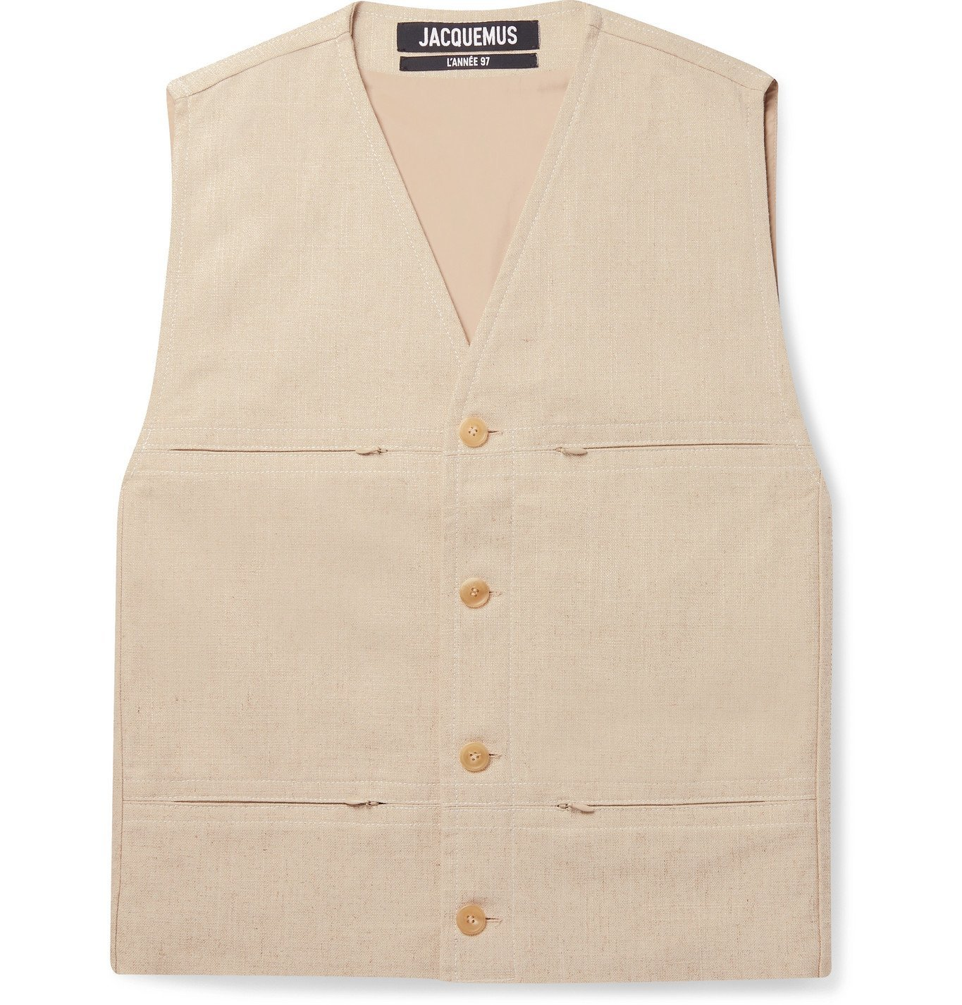 Photo: Jacquemus - Mélange Voile Gilet - Neutrals