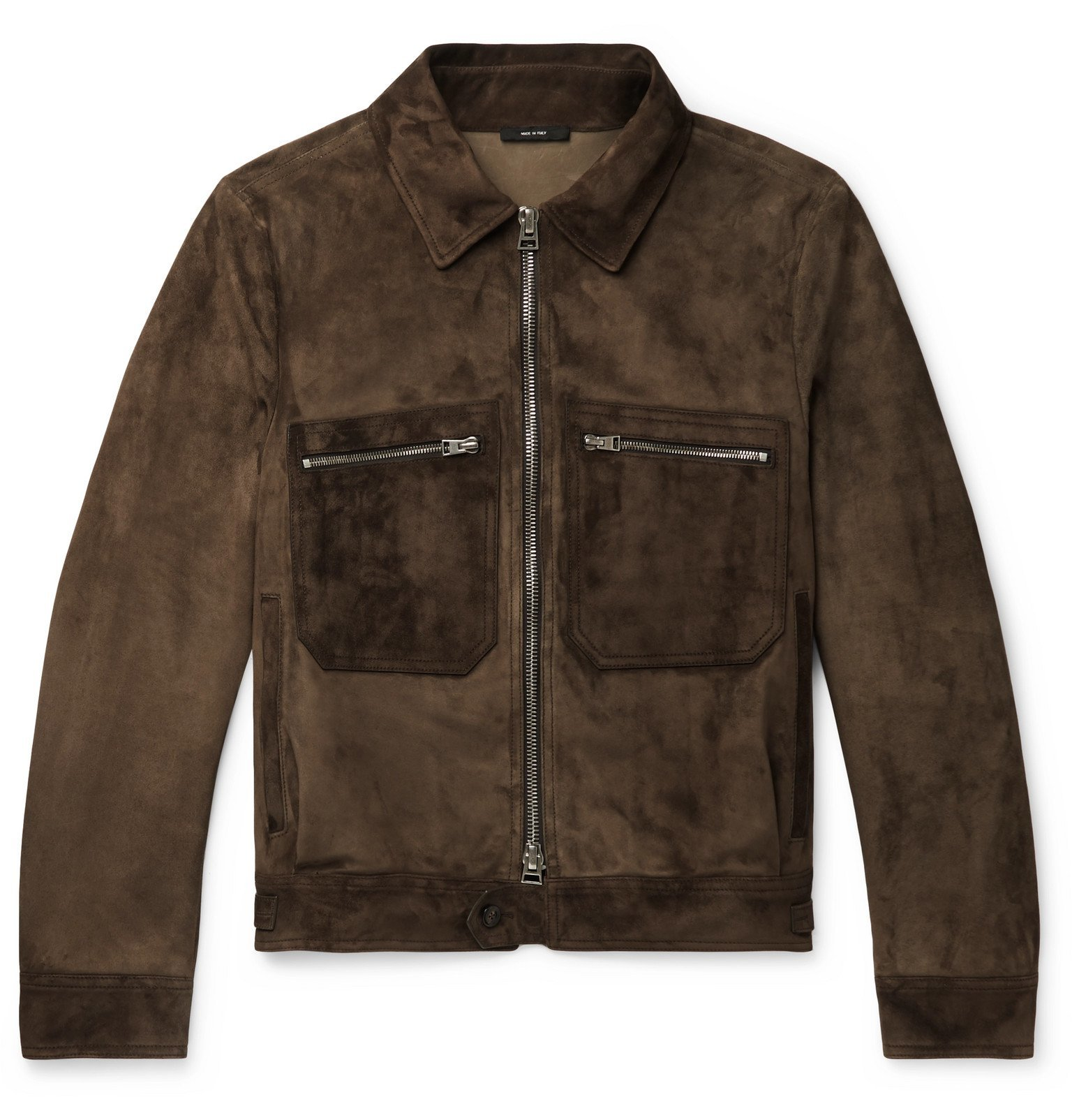Photo: TOM FORD - Suede Blouson Jacket - Brown