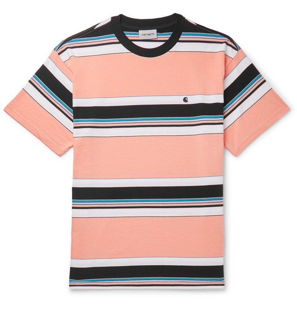 Photo: Carhartt WIP - Ozark Striped Cotton-Jersey T-Shirt - Orange