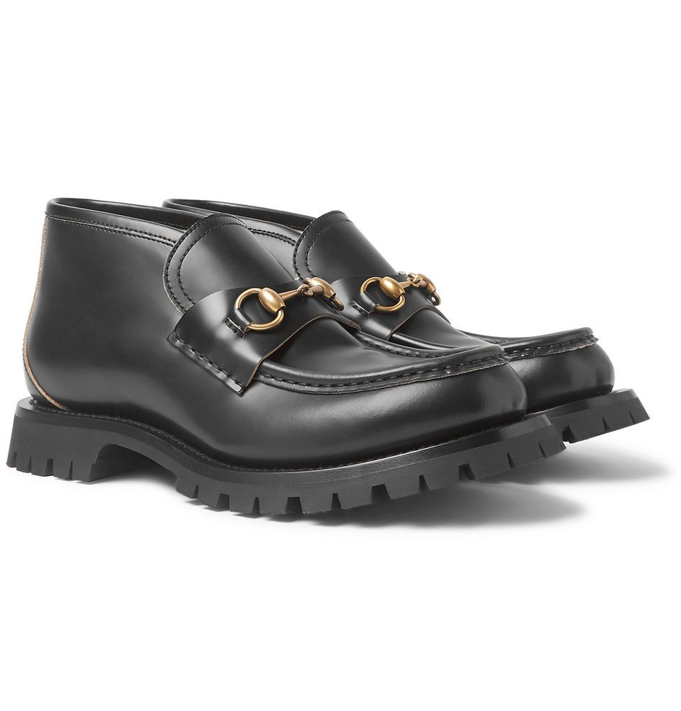 Photo: Gucci - Django Horsebit Leather Loafers - Black