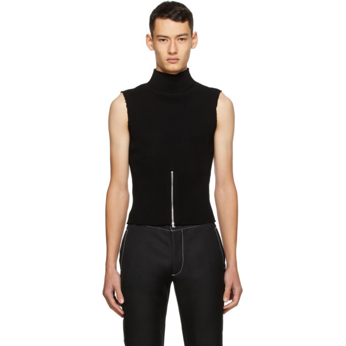 Photo: Daniel W. Fletcher Black Ribbed Zip Vest