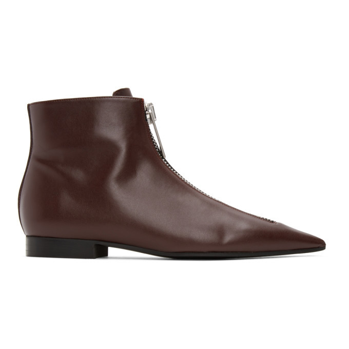 Photo: Stella McCartney Burgundy Zipit Ankle Boots
