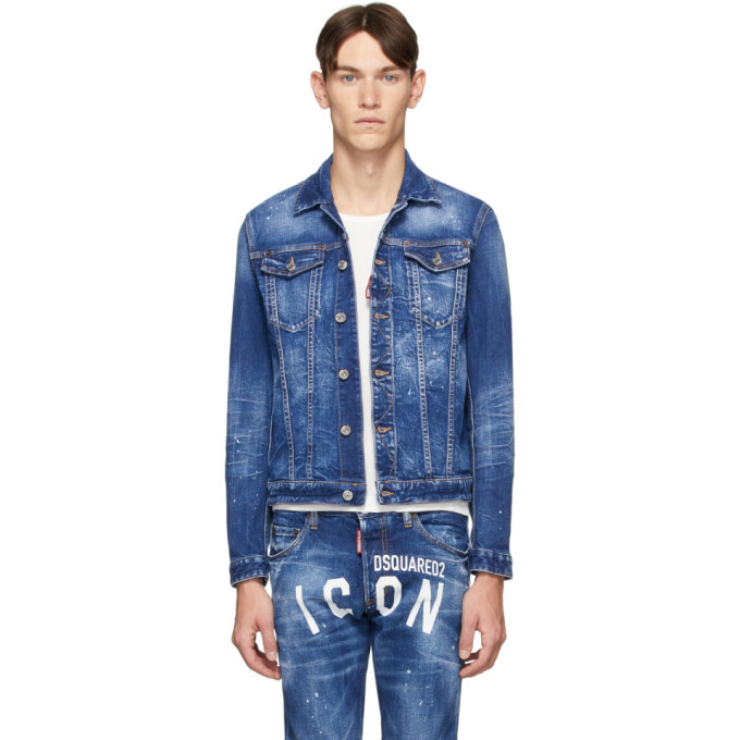 Photo: Dsquared2 Blue Denim Dan Icon Wash Jacket