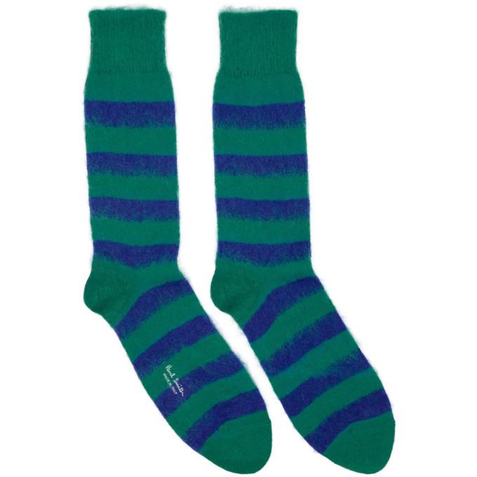 Photo: Paul Smith Blue Mohair Striped Socks