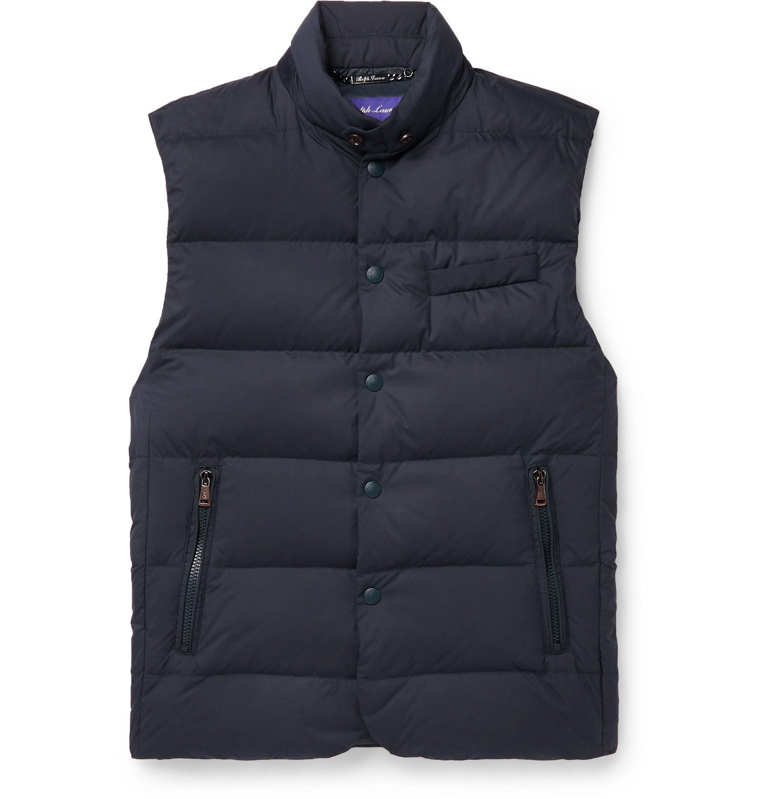 Photo: Ralph Lauren Purple Label - Quilted Shell Down Gilet - Blue