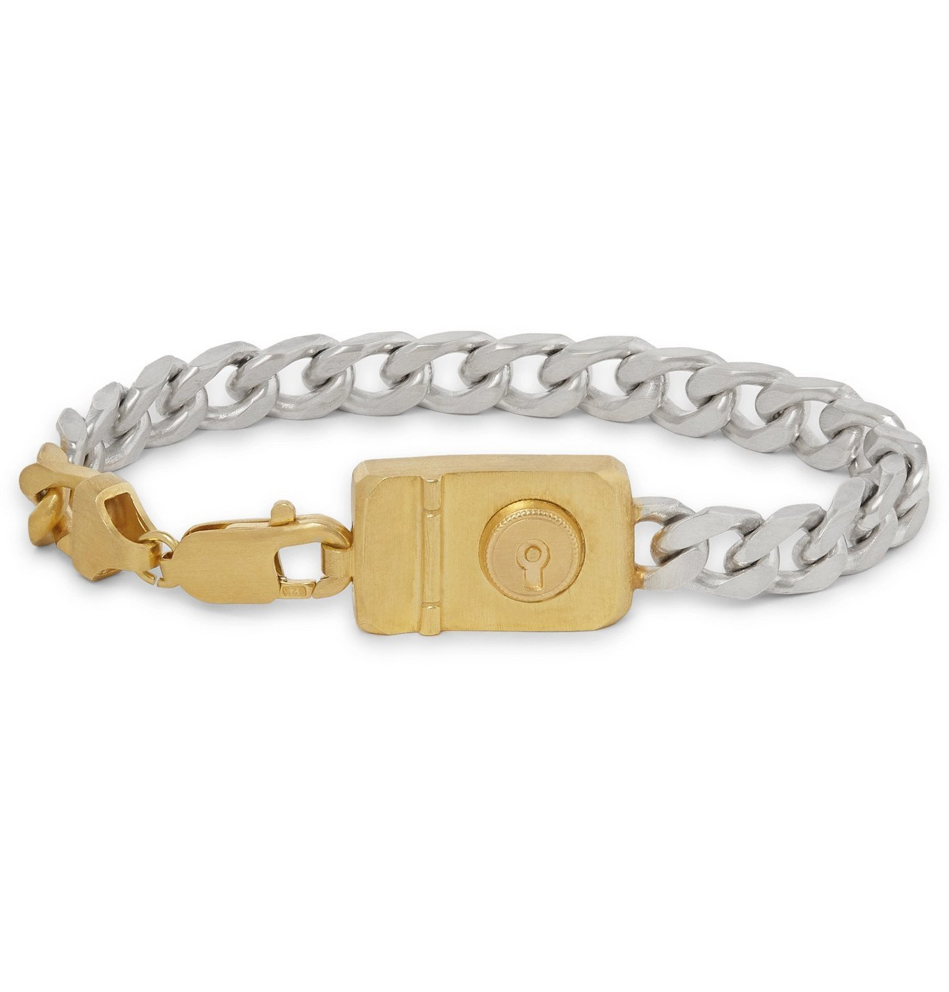 Dunhill - Sterling Silver and Gold-Tone Chain Bracelet - Silver