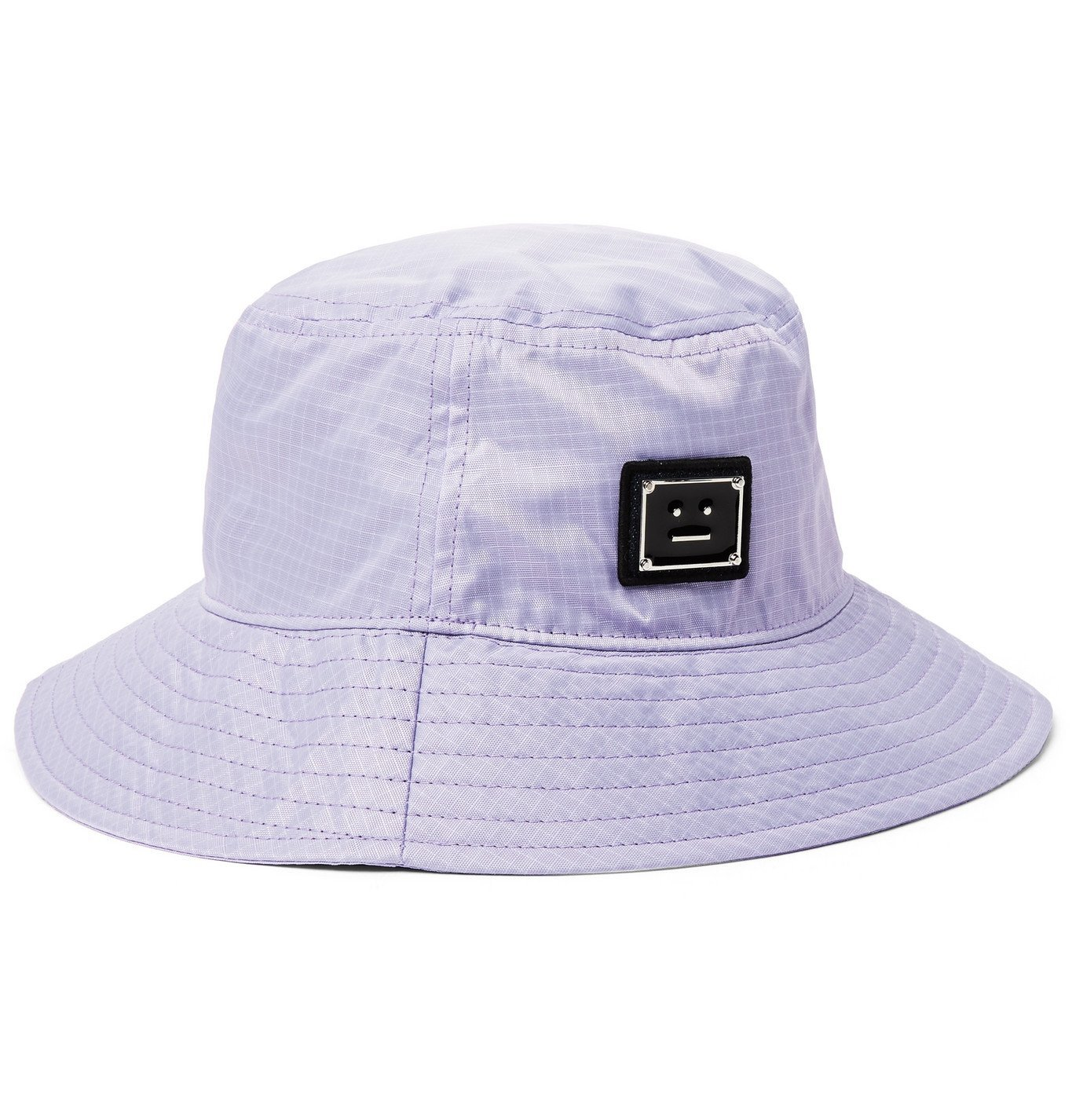 Photo: ACNE STUDIOS - Logo-Appliquéd Ripstop Bucket Hat - Purple