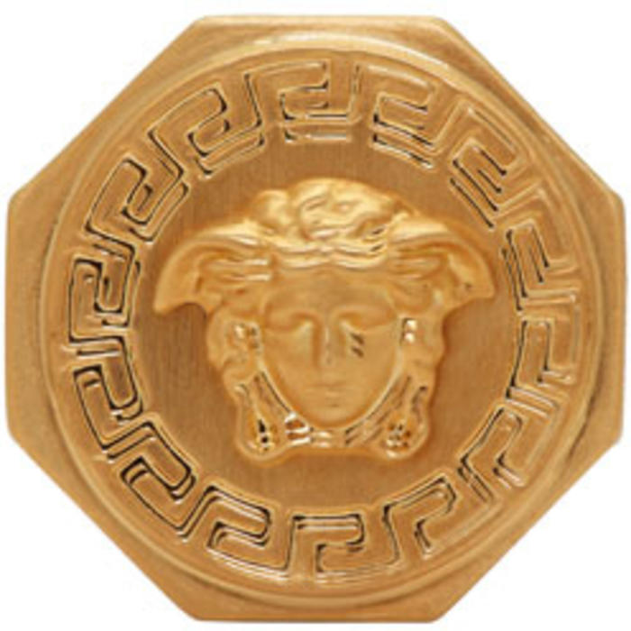 Photo: Versace Gold Octagonal Medusa Ring