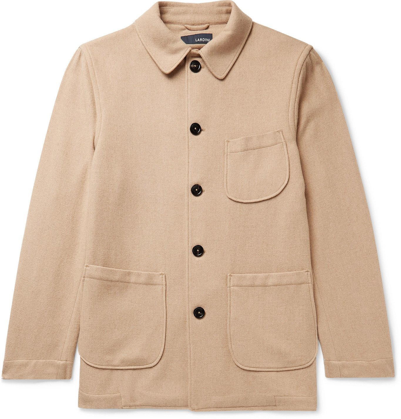 Photo: Lardini - Imrenzo Stretch-Cotton Velvet Chore Jacket - Neutrals