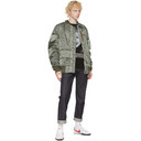 Sacai Khaki Dr.Woo Edition Nylon Bomber Jacket