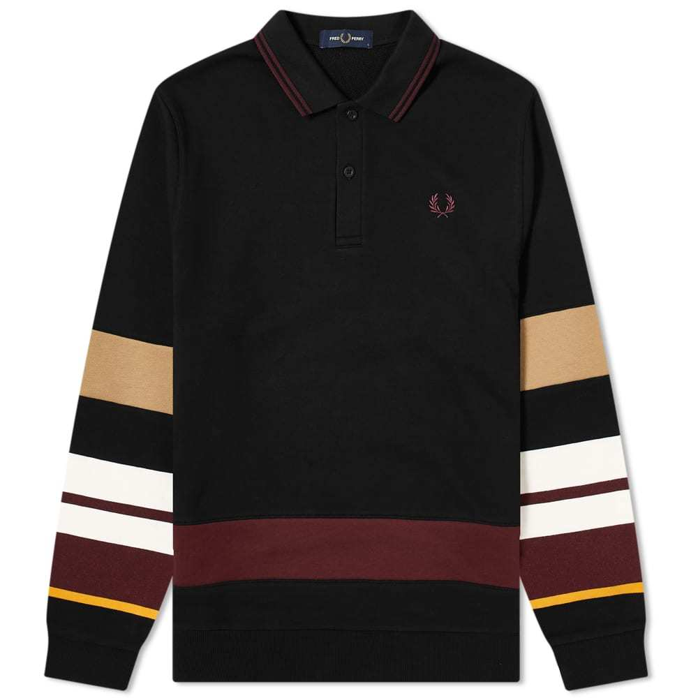 Photo: Fred Perry Authentic Long Sleeve Striped Polo