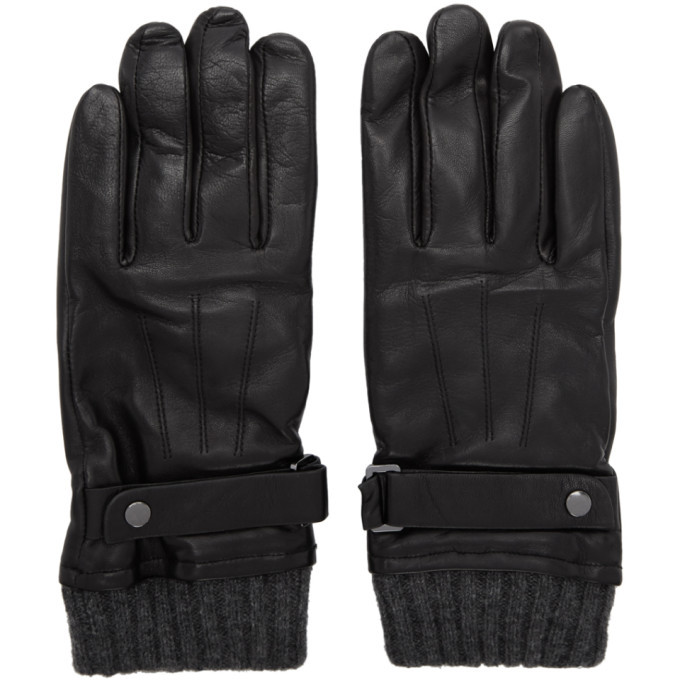 Photo: Mackage Black Leather Reeve Gloves