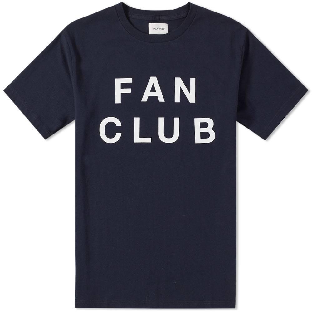 Wood Wood Perry Fan Club Tee Blue