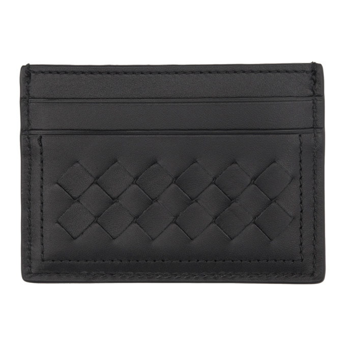 Photo: Bottega Veneta Black Intrecciato Four Card Holder