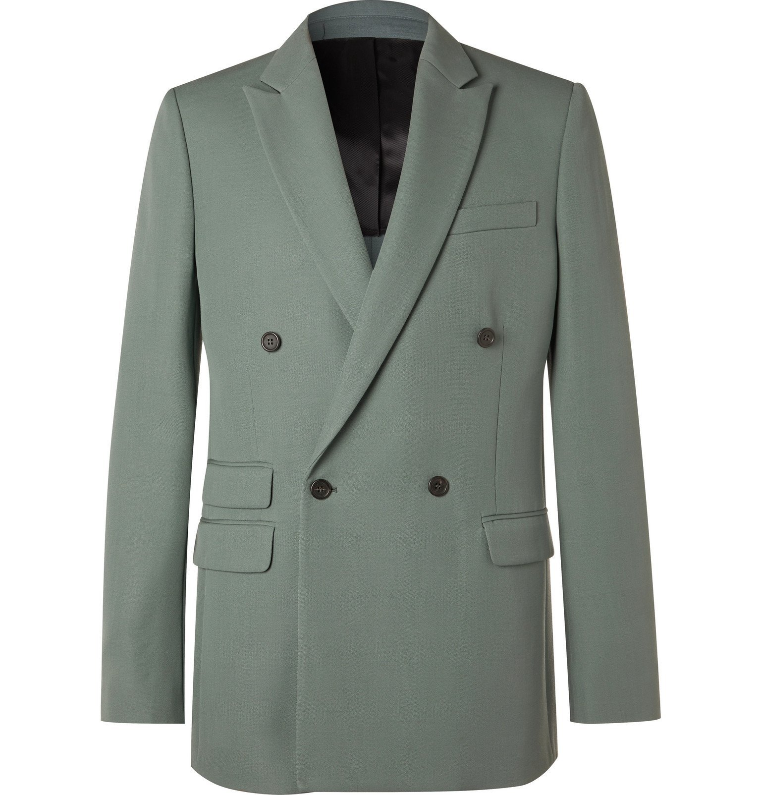 Stella McCartney - Double-Breasted Wool Suit Jacket - Blue