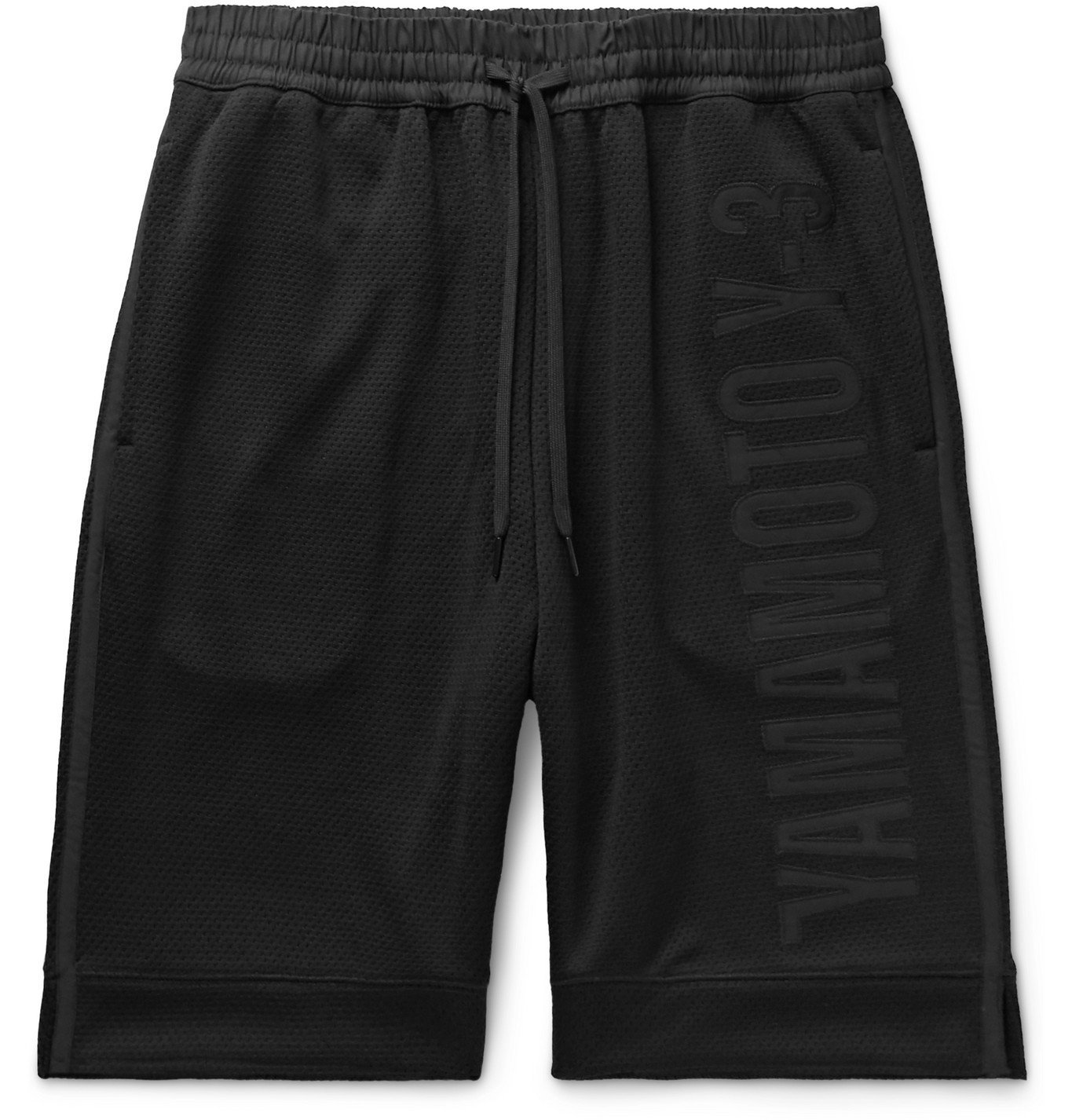 Photo: Y-3 - Logo-Appliquéd Mesh Drawstring Shorts - Black