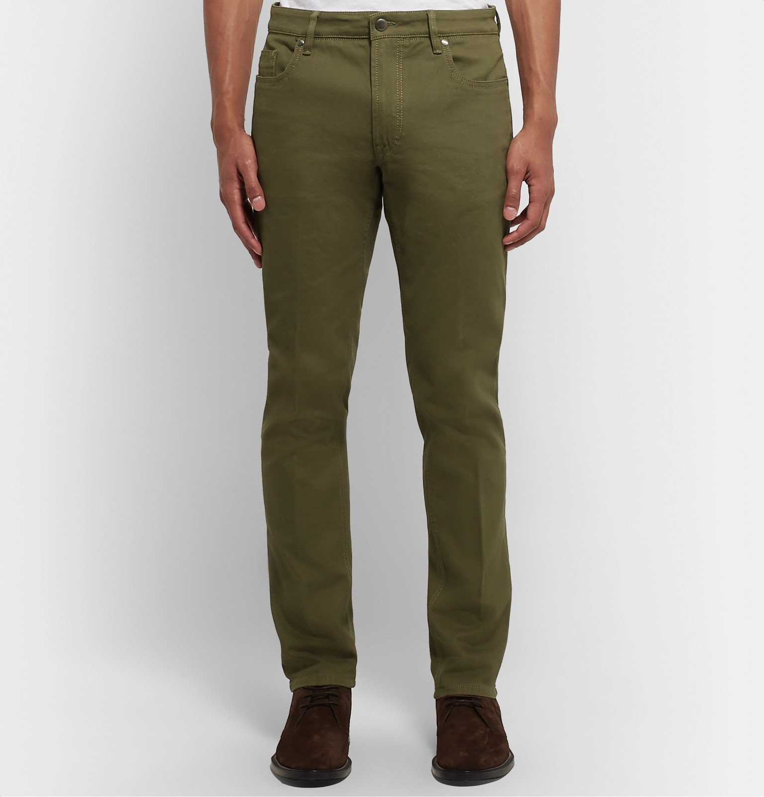 Tod's - Slim-Fit Stretch-Denim Jeans - Green