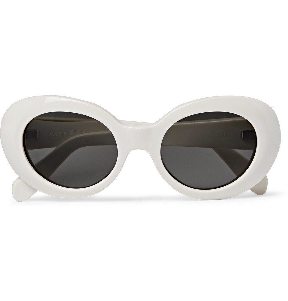 Acne Studios - Mustang Oval-Frame Acetate Sunglasses - White