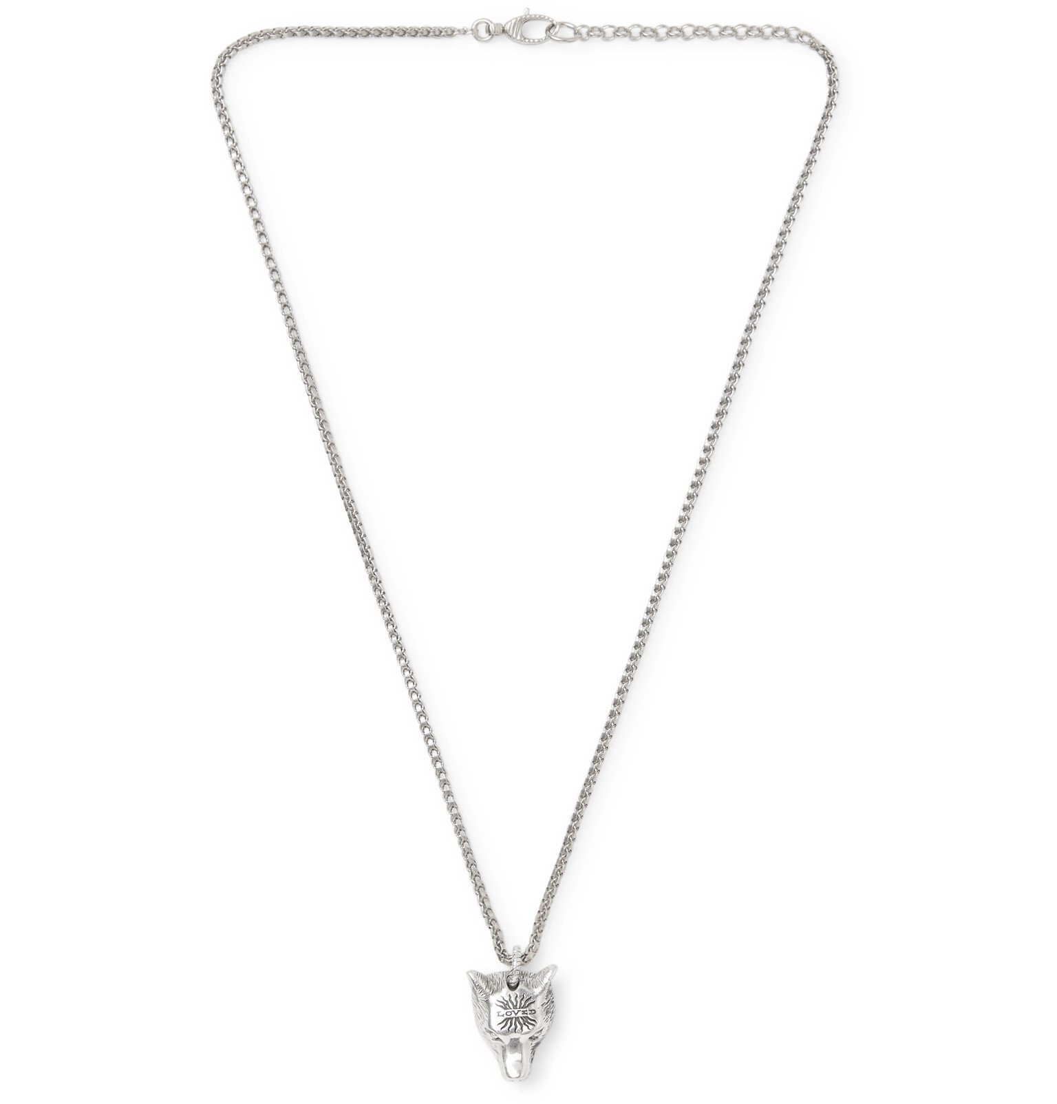 Photo: Gucci - Anger Forest Wolf's Head Sterling Silver Necklace - Silver