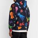 Aries - Printed Fleece-Back Cotton-Jersey Hoodie - Black