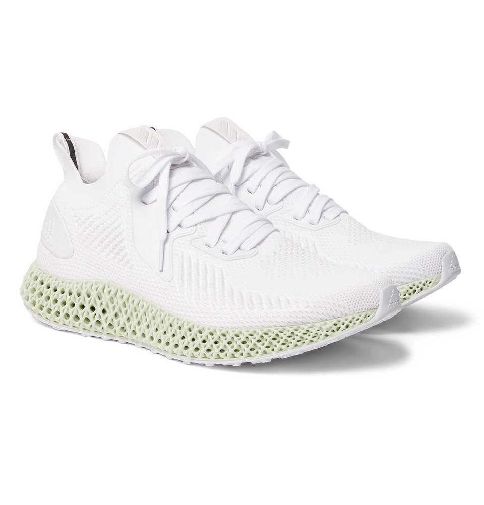 Photo: adidas Originals - Alphaedge 4D Rubber-Trimmed Primeknit Sneakers - White