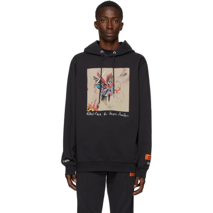 Photo: Heron Preston Black Robert Nava Edition Ribs Hoodie