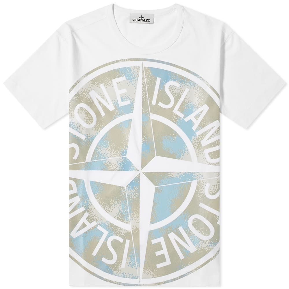 Photo: Stone Island Oversized Print Logo Tee
