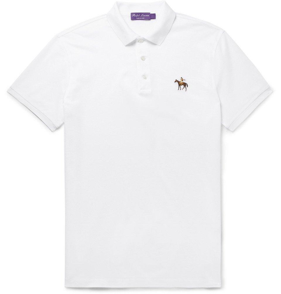 Photo: Ralph Lauren Purple Label - Cotton-Piqué Polo Shirt - White