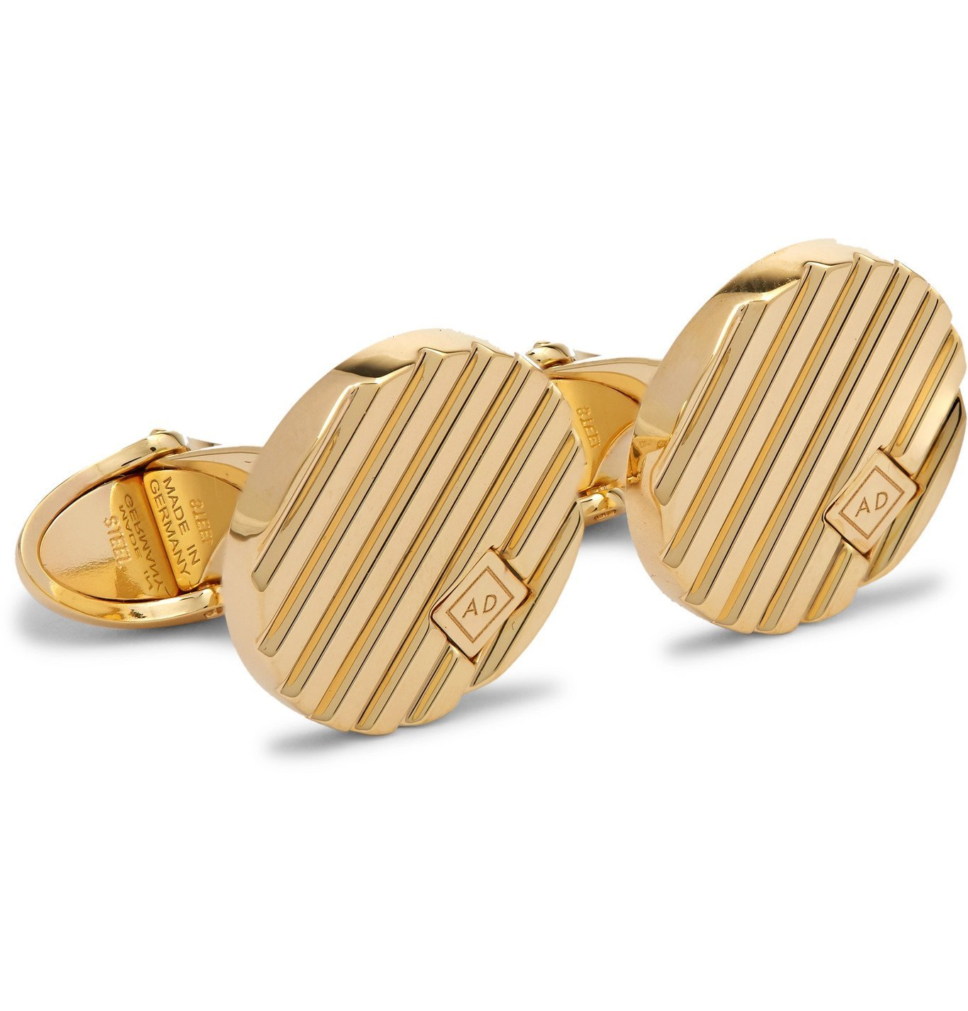 Dunhill - Logo-Engraved Gold-Plated Cufflinks - Silver