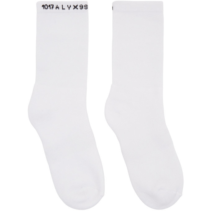 Photo: 1017 ALYX 9SM Three-Pack Multicolor Logo Socks